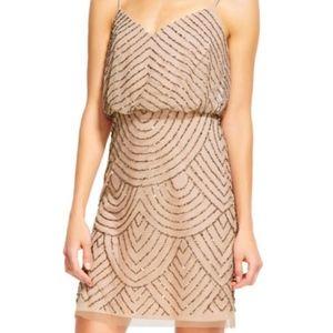Adrianna Papell Sequin Blouson Dress beading